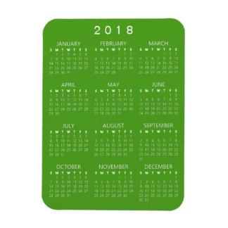 Magnet Flexible Aimant de 2018 calendriers - vert bleu
