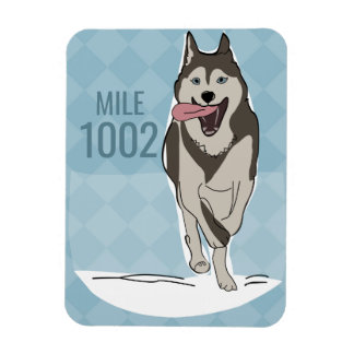 Magnet Flexible Aimant de chien de traîneau sibérien