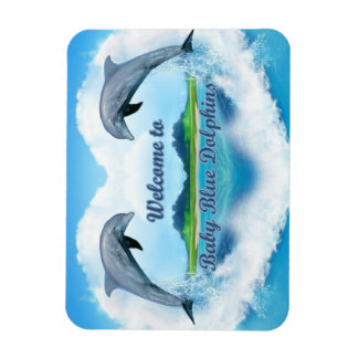 Magnet Flexible Aimant de dauphin de bleus layette