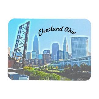 Magnet Flexible Aimant de matin de Cleveland (texte incurvé)