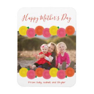 Magnet Flexible Aimant heureux de photo du jour de mère |