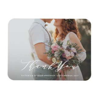 Magnet Flexible Aimant mol de photo de Merci de mariage de
