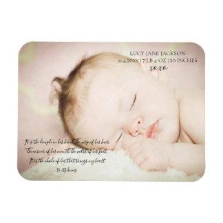 Magnet Flexible Aimant nouveau-né de souvenir de photo de bébé