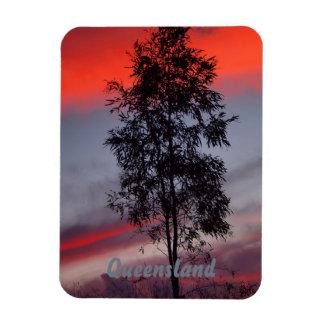 Magnet Flexible Aimant orageux de photo de coucher du soleil du