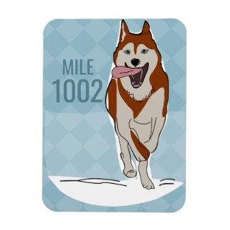 Magnet Flexible Aimant rouge de chien de traîneau sibérien
