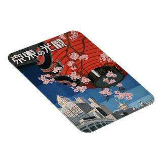 Magnet Flexible Aimant vintage de photo de voyage de Tokyo Japon
