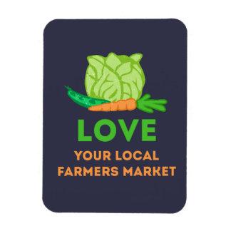 Magnet Flexible Aimez votre marché local d'agriculteurs