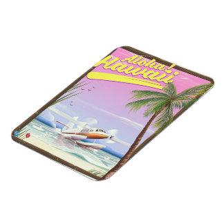 Magnet Flexible Aloha ! Affiche vintage de voyage de style d'Hawaï