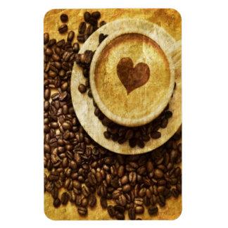 Magnet Flexible Amant chic de café de grains de café de cappuccino