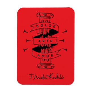 Magnet Flexible Amour d'art de douleur de Frida Kahlo |