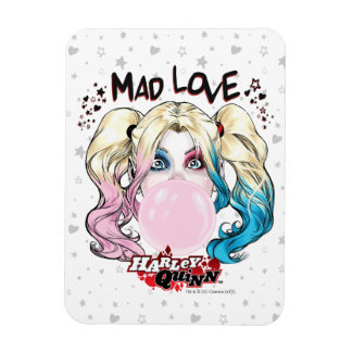 Magnet Flexible Amour fol Harley Quinn de Batman | mâchant le