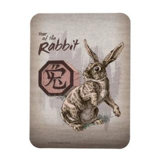 Magnet Flexible Année de l'art chinois de zodiaque de lapin