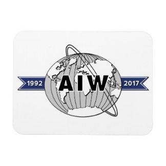 Magnet Flexible Anniversaire d'AIW 25ème, arrière - plan blanc