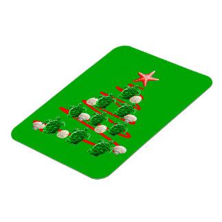Magnet Flexible Arbre de Noël de tortues de mer verte