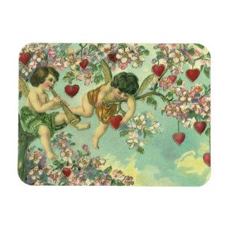 Magnet Flexible Arbre victorien vintage de coeur de cupidons de