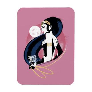 Magnet Flexible Art de bruit de profil de femme de merveille de la