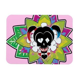 Magnet Flexible Art de tatouage de crâne du peloton | Harley Quinn