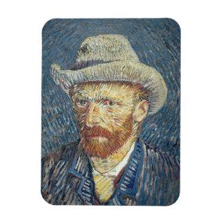 Magnet Flexible Autoportrait de Vincent van Gogh | avec le chapeau