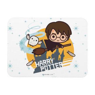 Magnet Flexible Bande dessinée Harry et vol de Hedwig après