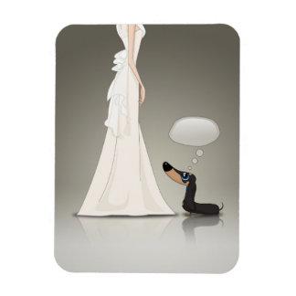Magnet Flexible Basset allemand et jeune mariée