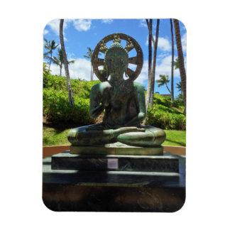 Magnet Flexible Bouddha assis par bronze, Waikoloa, Hawaï