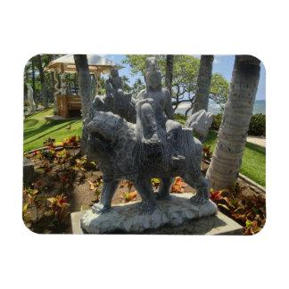 Magnet Flexible Bouddha montant une statue de lion, Waikoloa,