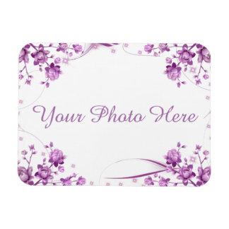 Magnet Flexible Cadre de photo avec des fleurs