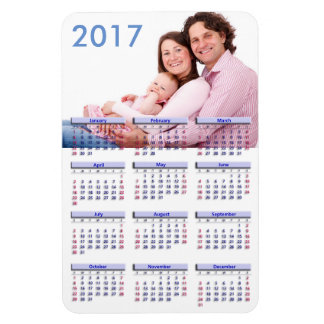 Magnet Flexible Calendrier d'aimant de PIC 2017 mignons de famille