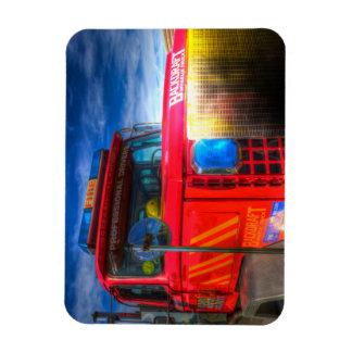 Magnet Flexible Camion de pompiers arrière d'ébauche