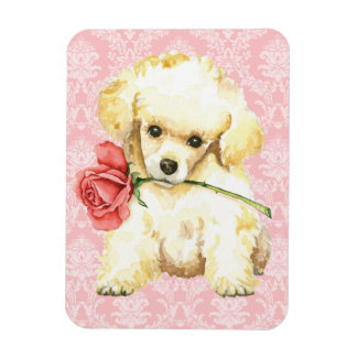 Magnet Flexible Caniche de jouet rose de Valentine