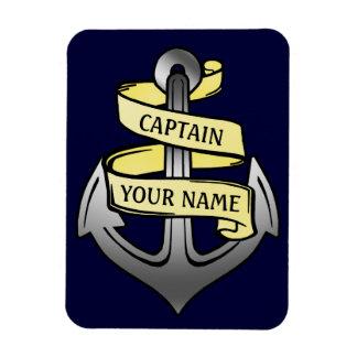 Magnet Flexible Capitaine de bateau personnalisable votre ancre