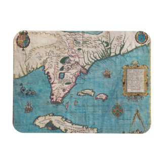Magnet Flexible Carte antique de la Floride et du Cuba