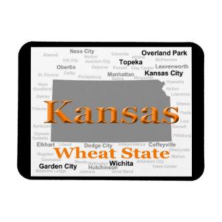Magnet Flexible Carte de fierté d'état du Kansas