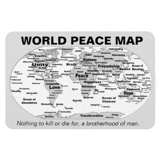 Magnet Flexible Carte de paix du monde