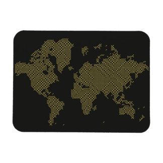 Magnet Flexible Carte du monde de Digitals