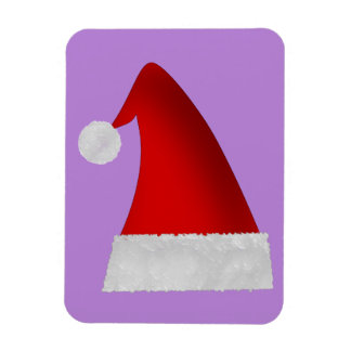 Magnet Flexible Casquette rouge de Père Noël de Noël