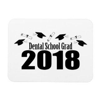 Magnet Flexible Casquettes du diplômé 2018 d'école dentaire et