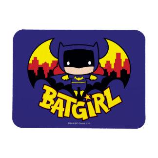 Magnet Flexible Chibi Batgirl avec l'horizon et le logo de Gotham