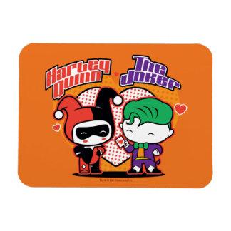 Magnet Flexible Chibi Harley Quinn et coeurs de joker de Chibi
