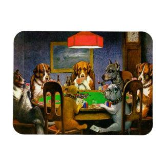 Magnet Flexible Chiens jouant au poker