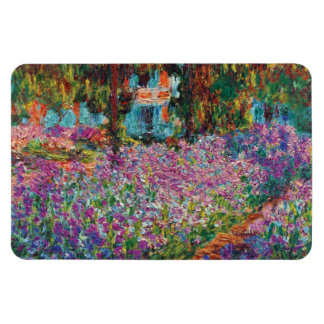 Magnet Flexible Claude Monet - iris en beaux-arts du jardin de