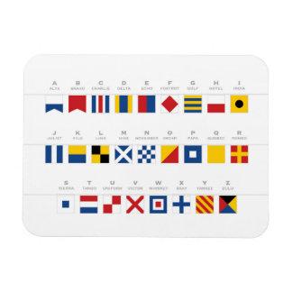 Magnet Flexible Code international d'alphabet de signaux
