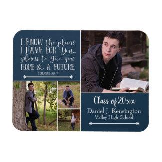 Magnet Flexible Collage chrétien de photo d'obtention du diplôme