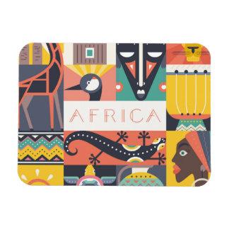 Magnet Flexible Collage symbolique africain d'art