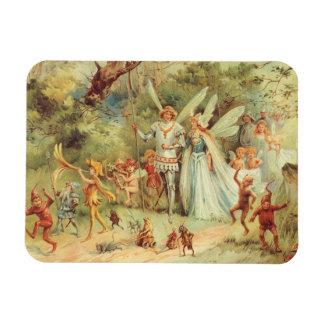 Magnet Flexible Contes de fées vintages, Thumbelina et prince