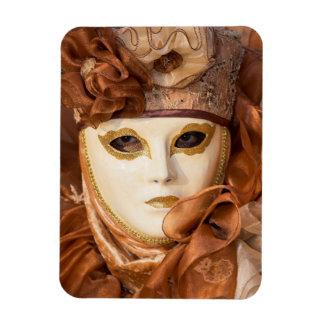 Magnet Flexible Costume orange de carnaval, Venise