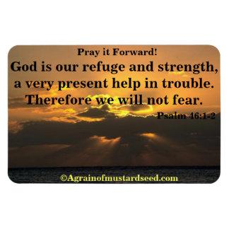 Magnet Flexible Dieu est notre citation de bible de refuge