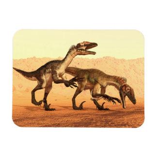 Magnet Flexible Dinosaures de Raptor dans le désert