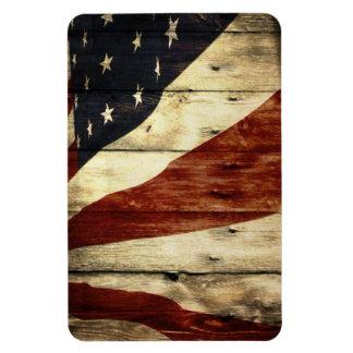 Magnet Flexible Drapeau américain en bois de grange americana