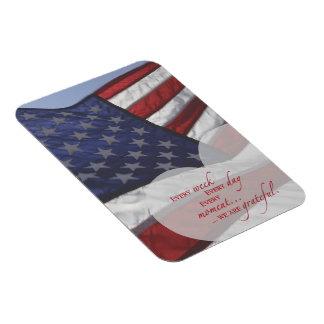 Magnet Flexible Drapeau patriotique de coeur, appréciation